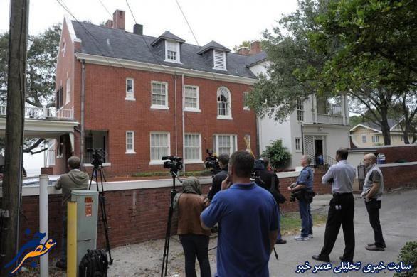خبرنگاران مقابل منزل جیلی