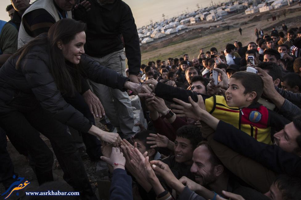 تصویر حضور آنجلینا جولی در کردستان عراق