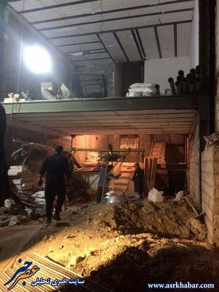 محل کشف مهمات مستهلک جنگی در تهران(تصاویر)