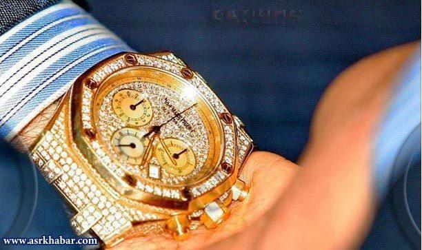 ساعت گران قیمت آقای عابر بانک فوتبال (+عکس)