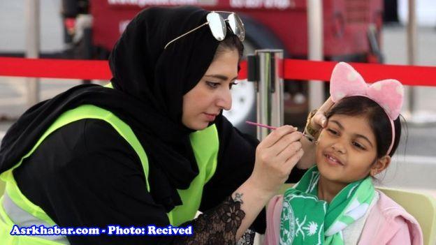 روز تاریخی برای زنان عربستان؛ زنان اینگونه در ورزشگاهها حاضر میشوند (+عکس)