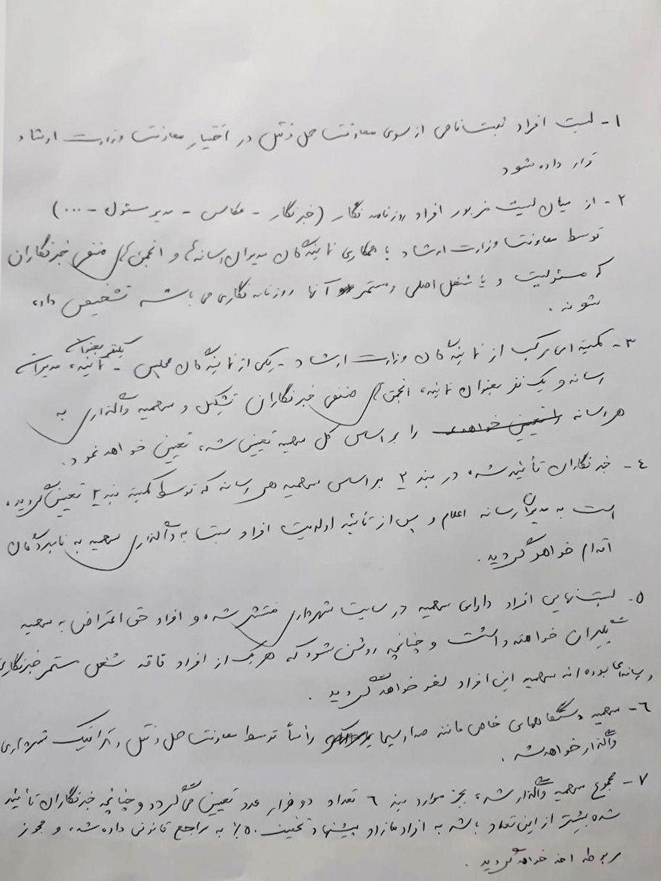 برجام نافرجام بین شهرداری و وزارت ارشاد درباره طرح ترافیک خبرنگاری + سند