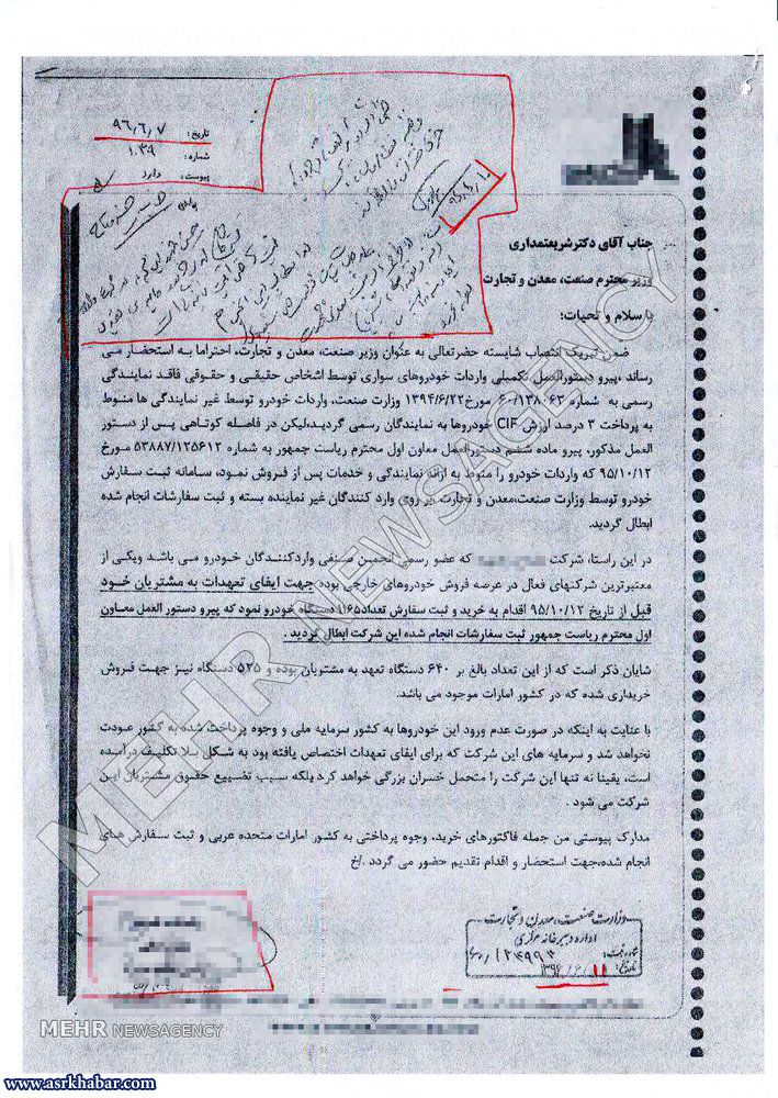 ارتباط ستاد انتخاباتی حسن روحانی با رانت واردات غیرقانونی خودرو چیست؟ (+عکس)